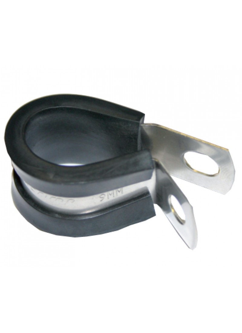 Cable clamps stainless steel rubber
