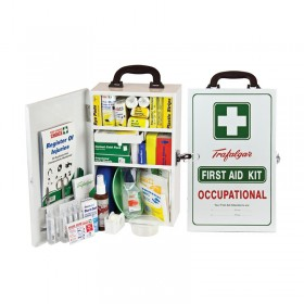 National WorkPlace First Aid Kit Wall Mount Metal Case