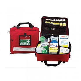 National WorkPlace First Aid Kit Wall Mount Portable Soft Case