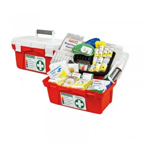 National WorkPlace First Aid Kit Wall Mount Portable Hard Case