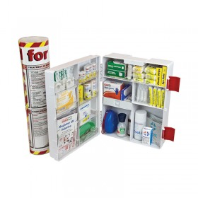 Burns First Aid Kit Wall Mount Plastic Case