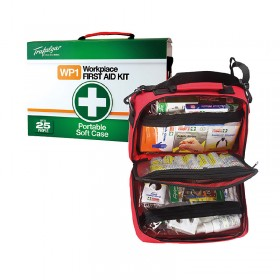 Work Place First Aid Kit Portable Soft Case