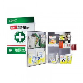 Wall Mount Workplace First Aid Kit (Plastic Case)