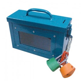 Blue Lock Box with Window