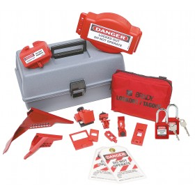 Combination Lockout Tool Box with Safety Locks